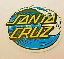 "Santa Cruz Skateboard Sticker, Beautiful Original Dealer Window Sticker, 3-1/4"""