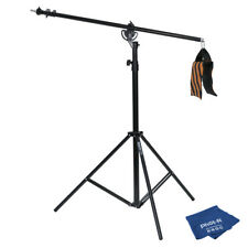 Phot-R 4m Heavy Duty 2-in-1 Rotatable Boom Arm Light Stand Kit Microfibre Cloth