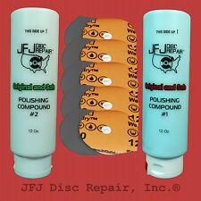 1 Compound #1 + 1 Compound #2 12oz + 10 Soft Sandpaper JFJ Easy Pro/Double