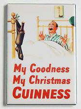 Guinness Christmas Stocking FRIDGE MAGNET (2.5 x 3.5 inches) poster bar sign