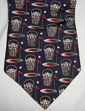 "Lord & Taylor MENS GOLF TIE Italy 58"" Sports Silk Navy Kensington Collection"