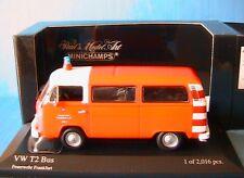 VW VOLKSWAGEN T2 BUS 1976 FEUERWEHR FRANKFURT MINICHAMPS 400053091 1/43 POMPIER