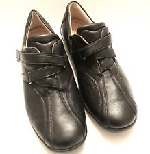 Fidelio Helga Size 6 Women Shoes-Black Leather Slip On Casual Walking (Bunions)