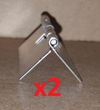 2-Stainless Steel Spring Hinge Loaded OPEN 1.5 X 1-3/4 Cabinet/Door/Craft/1041