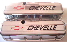 Chevelle 396,402,427,454,chevrolet bbc 1965-95 Tall Chrome valve covers Chevy
