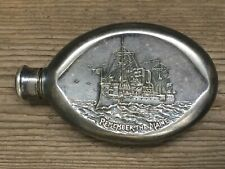 Antique Engraved Flask Spanish American ca 1898 Remembering The Maine