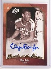 2009-10 UD Greats of the Game Elgin Baylor Autograph auto #57 *66760