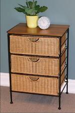 4D Concepts 263069 3 Drawer Wicker Stand NEW