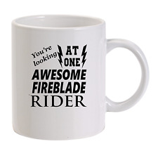 Awesome FIREBLADE Rider Tazza NUOVO REGALO COMPLEANNO DIVERTENTE papà HONDA
