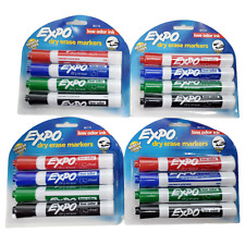 Expo 80174 Whiteboard Markers 4 Pack Whiteboard Chisel Tip Lot Of Four