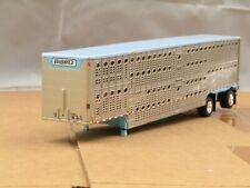 dcp light blue Wilson spread axle cattle pot trailer no box 1/64