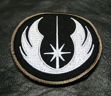 STAR WARS JEDI ORDER LOGO TACTICAL MORALE 3 INCH ROUND HOOK PATCH