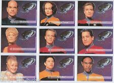 Star Trek Voyager Season 1 Series 2 Trading Card Subset Embossed E1-9 Crew