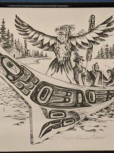 """Tresham Gregg Numbered 248 of 500 Print """"EAGLE DANCER CANOE """""""