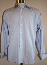 Vineyard Vines Blue Striped French Cuff Dress Shirt Size 15 R