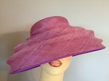 Señoras Ocasión Formal Boda Carreras madre novia Sombrero Rosa Púrpura por Balfour