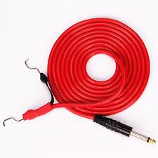 Tattoo Gun Accessories 2.4M 8' FT Silicone Tattoo Machine Power Clip Cord Red