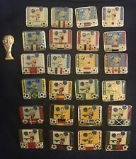 1986 Mexico World Cup Soccer Pins Complete Set 24 Rare Hard To Find Cantinflas