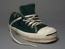 Vtg Converse Jack Purcell Green Canvas Athletic Tennis Deck Sneaker Shoes Mens 6