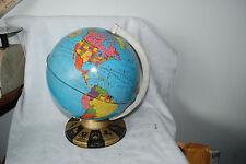 Vintage Metal Globe Ohio Art Tin World Zodiac Base Made in USA