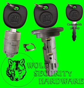 Escalade Hummer OEM Ignition Key Switch Lock Cylinder & Single Door Set 3 GM Key