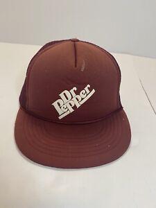 Vintage Dr.Pepper SnapBack Mesh Trucker Hat Cord Vtg Soda Pop Cola Hat Cap