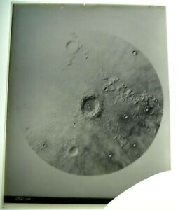 1962 MOON  GLASS PLATE Photo LICK OBSERVATORY # ECD 46 8x10 Negative OCT 21 1962