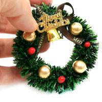 Mini Weihnachtskranz Miniatur Kranz Puppenhaus Garten Dekoration Puppenstube