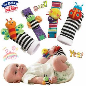 Lamaze Rattle Baby Sensory Toys Foot-finder Socks Wrist Rattles Set Bracelet AU