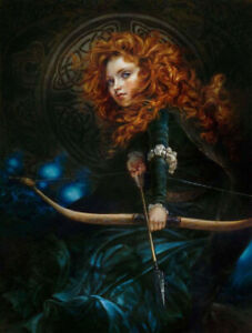 Reprint For Heather Theurer Disney HD Art Prints on Fabric Poster Painting