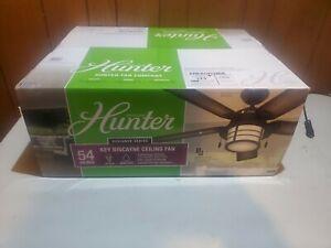 "Hunter Key Biscayne Key Biscayne 54"" 5 Blade Indoor / Outdoor - Weathered Zinc"