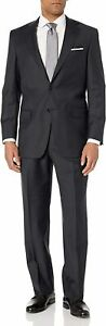 Hart Schaffner Marx Mens Suit Gray Size 41 R 40x36 Chicago Fit Wool $1090 126