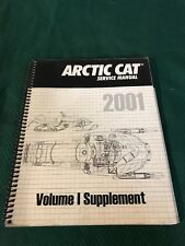 USED 2001 ARCTIC CAT SNOWMOBILE SERVICE MANUAL VOLUME 1 SUPPLEMENT 2256-420
