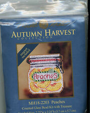 Mill Hill Autumn Harvest Peaches Bead Cross Stitch Kit with Treasure