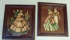 Vintage Framed Victorian Pictures One Of a Man and Woman an the other of a Woman