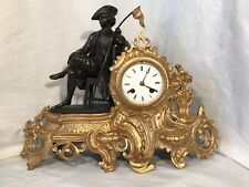 ANTICO OROLOGIO A PENDOLO PARIGINA ORO E BRONZO '800 OLD CLOCK GOLD