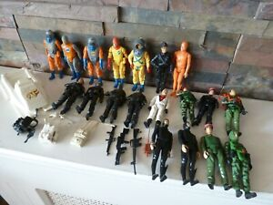classic ACTION FORCE PALITOY 1984 X 20 TOY FIGURES JOBLOT - FROGMAN / RED SHADOW