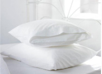 10 Pack Large Pillow Cases Cotton TC130 Percale Quality Hotel Grade 51x76cm