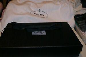 "PRADA MILANO Authentic Empty Gift Storage Box 16""X10""X3"" ,RIBBON,DUSTBAG 23""X19"""