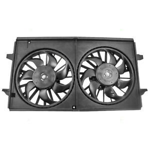 Dual Cooling Fan Motor Assembly for Chevy Malibu Pontiac G6 Saturn Aura 6 cyl
