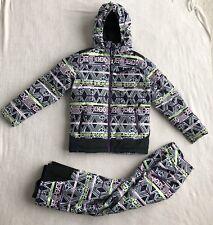 Marmot Girls Geometric Ski Jacket Pant Large Black Green Pink Purple S/N G76190
