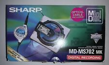 Sharp Md-Ms702 Mk Recorder Personal MiniDisc Player Used- As Is