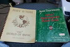 LOT OF VINTAGE PIANO BOOKS ADULT PREPARATORY PIANO BOOK & PLAY A TUNE