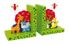 Small Foot Company Reggilibri Animali selvatici legno Multicolore