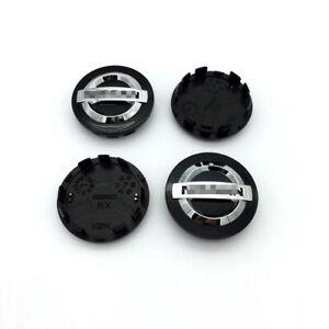 4X 3D 54mm Black/Silver OEM Wheel Center Hub Caps Hubcap Center Cover For Nissan