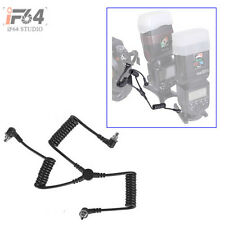 PC-30 Male to Male M-M Three-plug Flash PC SYNC Cord Cable wt Screw Lock