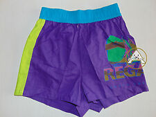 Vintage 90 BRUGI Boxer L Shorts Costume Beach Pantaloncini Viola Costa Smeralda