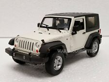 WELLY 1:24 DISPLAY 2007 JEEP WRANGLER RUBICON WITH TOP Diecast Car White 22489H