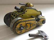 GAMA T56 TANK - DOUBLE CANON SPARKING TIN TOY  GERMANY C. 1950's WORKING