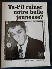 Publicité advert concert album advertising IAN DURY 1978 PARIS Bataclan